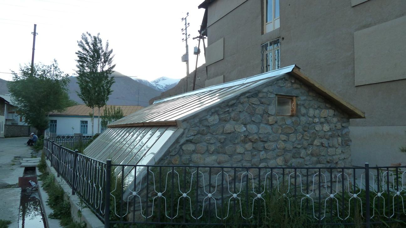 Exemplary solar greenhouse in Khorog
