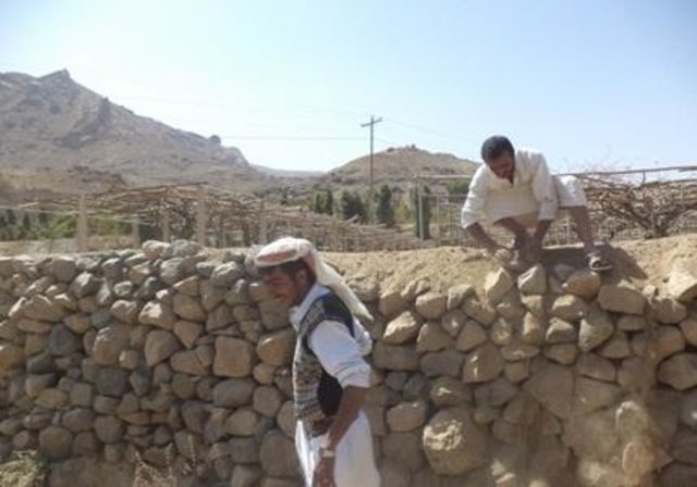 Rehabilitation of terraces and diversion construction with gates and channels